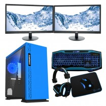 Intel CORE i7 Gaming PC Kaby Lake 7700 8GB 1TB GTX 1050Ti 4GB ULTRA FAST - Dual Monitor with Gaming Keyboard Bundle - Expedition Blue - £988.04