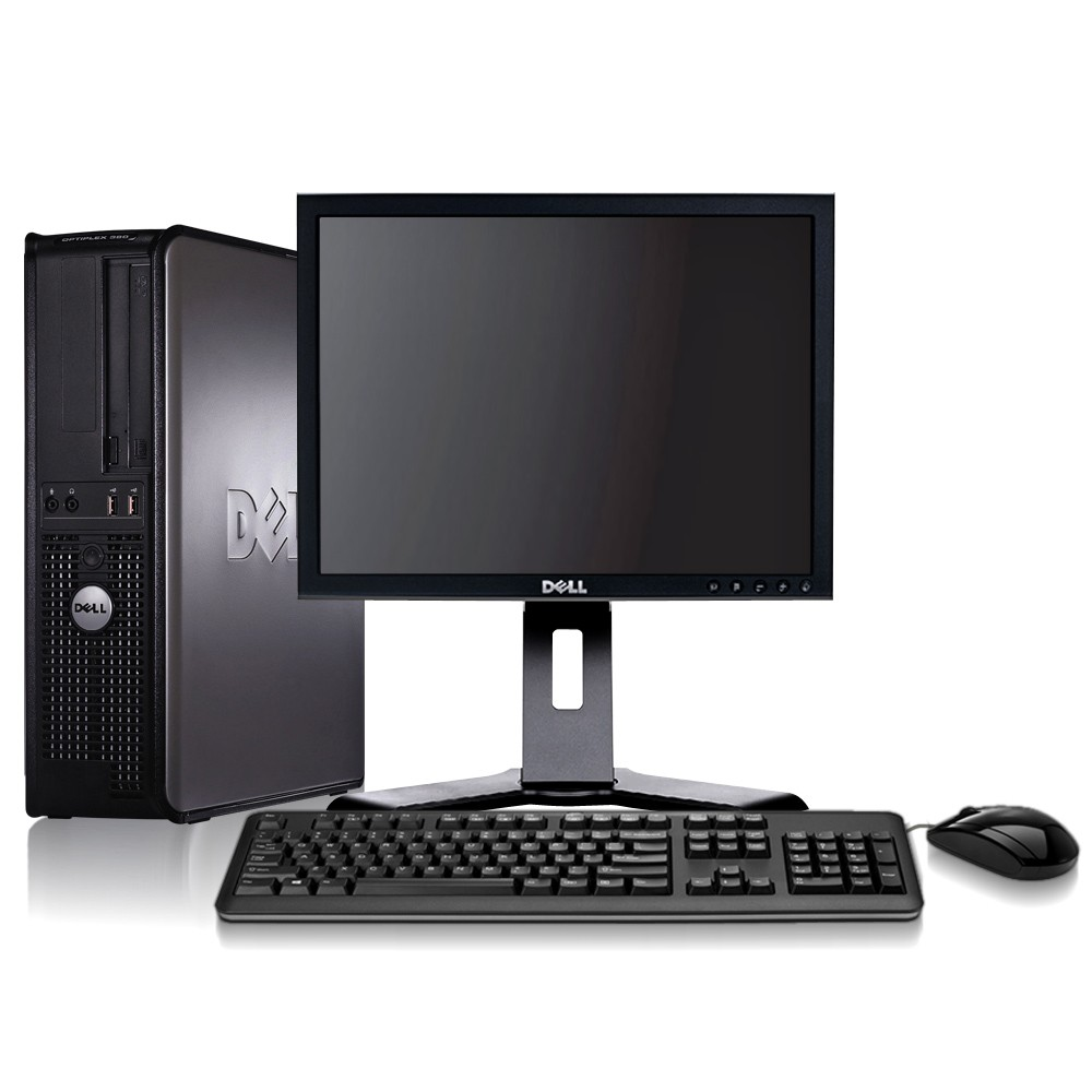 "Dell Optiplex (DT) Core 2 Duo 4GB 1000GB + 17"" TFT & Windows 7 Pro"