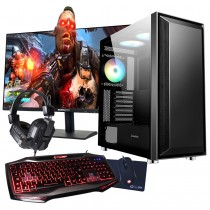 Ryzen 5 2600 Gaming PC Bundle 16GB RAM GTX1650 Graphics Card 240GB SSD - Windows 10
