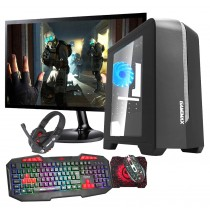 Intel CORE i7 Gaming PC Coffee Lake 8700 8GB 1TB GTX1650 4GB ULTRA FAST - Single Monitor with Gaming Keyboard Bundle