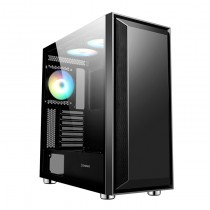 GameMax Stealth Gaming Case 3x ARGB Fan Hub MB Sync TG Side Panel