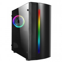 CiT Beam MATX Gaming Case Rainbow RGB Strip 1 x Rainbow RGB fan Acrylic Side