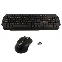 Jedel WS880 Wireless Gaming Desktop Kit Nano USB Multimedia Keyboard 800-2000 DPI Mouse Black