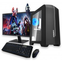 Quad Core Gaming PC Bundle 8GB RAM 500GB HDD 120GB SSD 2GB Graphics - Windows 10