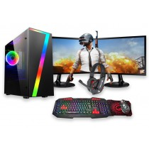 Core i5 FORTNITE GAMING BUNDLE 8GB RAM 4GB GTX1650 500GB HDD Windows 10 - Dual Monitor with Gaming Keyboard