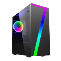 CiT Seven MATX Gaming Case Rainbow RGB