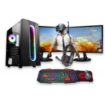 Core i5 FORTNITE SAURON GAMING BUNDLE 8GB RAM 4GB GTX1650 500GB HDD Windows 10 - Dual Monitor with Gaming Keyboard