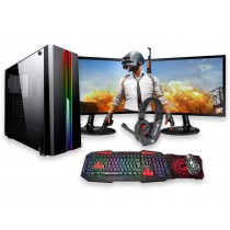 Core i5 FORTNITE ZOOM GAMING BUNDLE 8GB RAM 4GB GTX1650 500GB HDD Windows 10 - Dual Monitor with Gaming Keyboard
