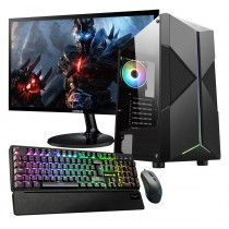 Ryzen 5 2600X 16GB RAM GTX1660 6GB 1TB HDD 120GB SSD Water Cooled Gaming PC - Single Monitor with Gaming Keyboard Bundle