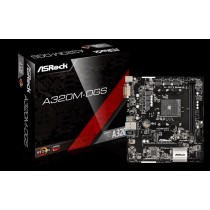 Asrock A320M-DGS, AMD A320, AM4, Micro ATX Motherboard