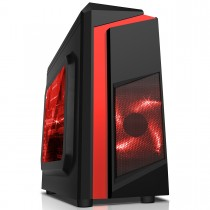 CiT F3 Black/Red Gaming Case