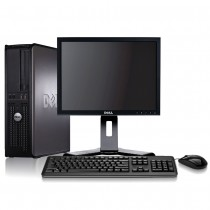 "Dell Optiplex (DT) Core 2 Duo 4GB 160GB + 17"" TFT & Windows 7 Pro"