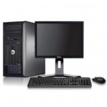"Dell Optiplex (Tower) Core 2 Duo 4GB 1000GB + 17"" TFT + Windows 7 Pro"