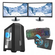 Intel CORE i7 Gaming PC Coffee Lake 8700 8GB 1TB GTX1650 4GB ULTRA FAST - Dual Monitor with Gaming Keyboard Bundle