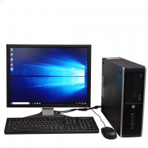 "HP 8300 Compaq Elite SFF Core i3 2100 8GB RAM 500GB HDD 2GB 710 Graphics Card Plus 19"" Monitor with Windows 10"