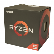 AMD Ryzen 5 1400 CPU with Wraith Cooler, AM4, 3.2GHz (3.4 Turbo), Quad Core, 65W, 10MB Cache, 14nm, No Graphics CPU