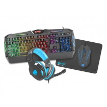 Fury Thunderstreak Combo 4 in 1 Gaming Keyboard Mouse Headset and Mouse Mat