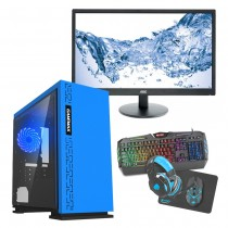 Intel CORE i7 Gaming PC Kaby Lake 7700 8GB 1TB GTX1650 4GB ULTRA FAST - Single Monitor with Gaming Keyboard Bundle - Expedition Blue
