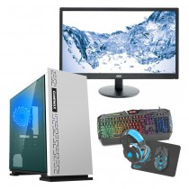 Intel CORE i7 Gaming PC Kaby Lake 7700 8GB 1TB GTX1650 4GB ULTRA FAST - Single Monitor with Gaming Keyboard Bundle - Expedition White