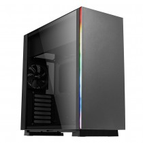 Aerocool Glo Black RGB Mid-Tower Gaming Case With Tempered Glass