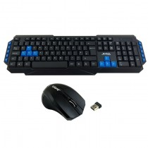Jedel WS880 Wireless Gaming Desktop Kit Nano USB Multimedia Keyboard with Blue Colour Coded Keys 800-2000 DPI Mouse