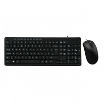 Pulse Wired Keyboard and Mouse Desktop Kit USB Multimedia Keyboard