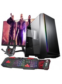 Quad Core Gaming Saber PC Bundle WiFi 1TB 8GB 2GB Graphics - Windows 10